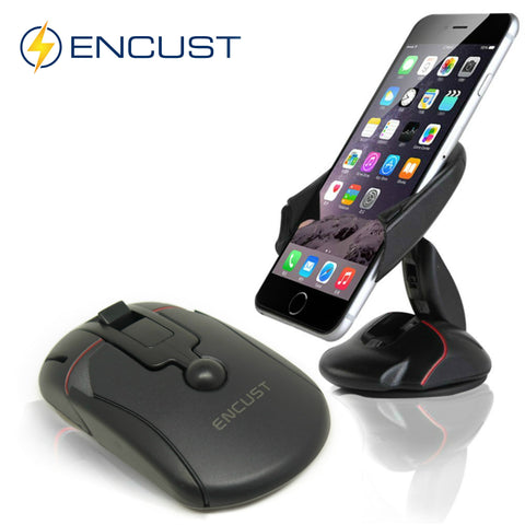 Universal Dashboard or Windshield One Touch Foldable Mouse Car Mount Phone Holder