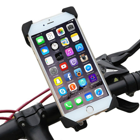 Universal Cell Phone Bicycle Rack Handlebar & Motorcycle Mount Holder GPS for devices 3.7 to 6.5 inches wide