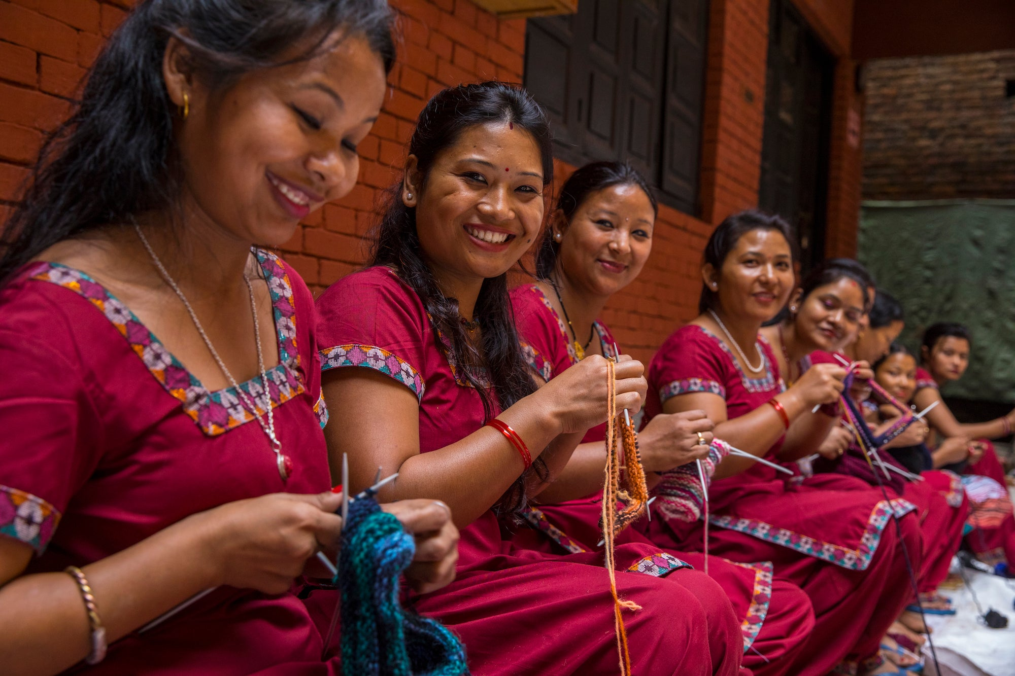 Women Knitters in Nepal