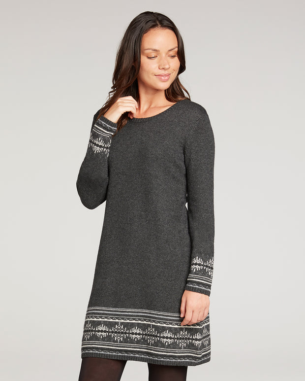 Maya Patterned Long Sleeve Dress