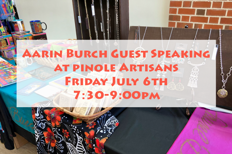 Aarin Burch Guest Speaking at Pinole Artisans
