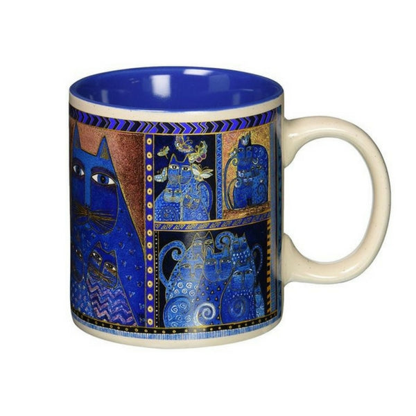 Indigo Cats Mug Mugs Sun'N'Sand - Laurel Burch Studios