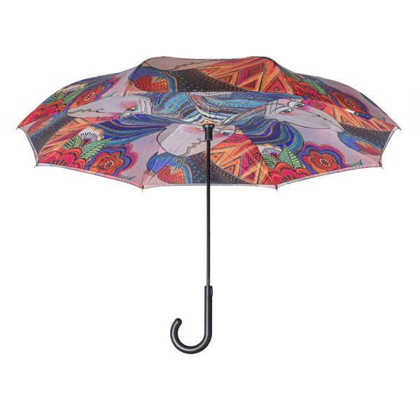 Mikayla Reverse-Close Stick Umbrella