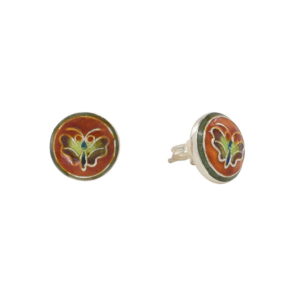 Butterfly Stud Rust Vintage Earrings Vintage Earrings Laurel Burch Jewelry - Laurel Burch Studios