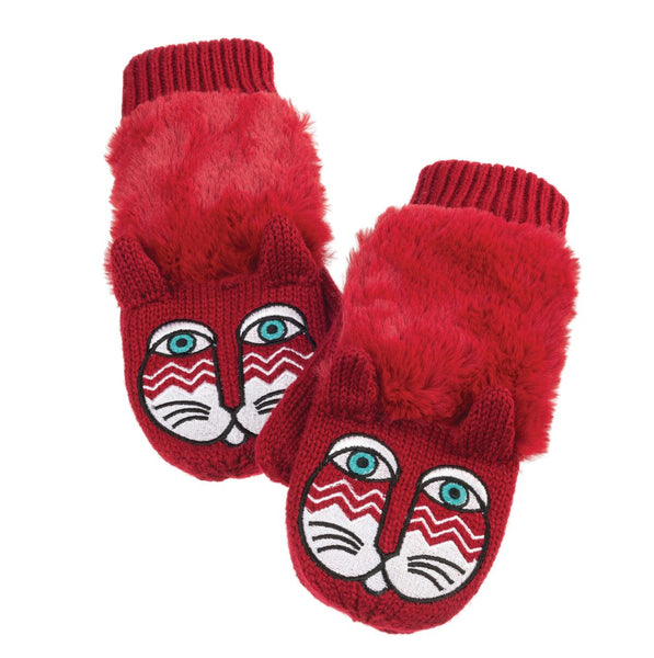 Red Cat Critter Mittens Gloves Howards - Laurel Burch Studios