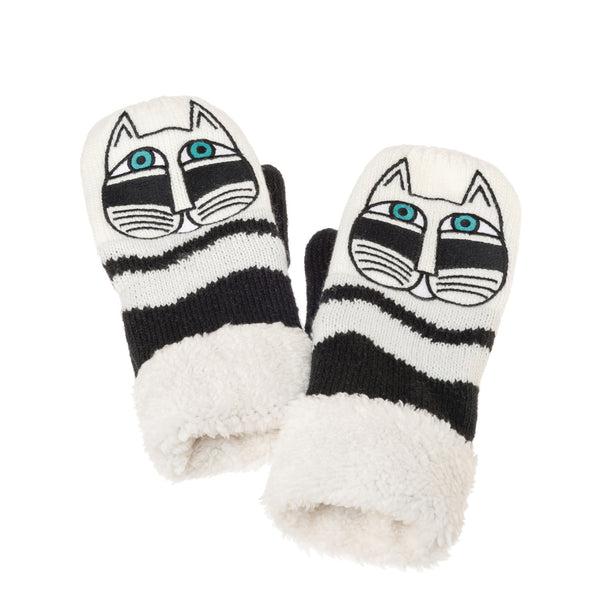 Black Fantastic Feline Mittens Gloves Howards - Laurel Burch Studios