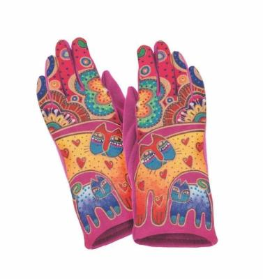 Bohemian Cats Suede Glove Gloves Howards - Laurel Burch Studios