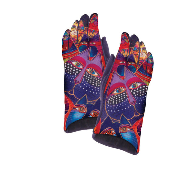 Fantasticats Suede Glove Gloves Howards - Laurel Burch Studios