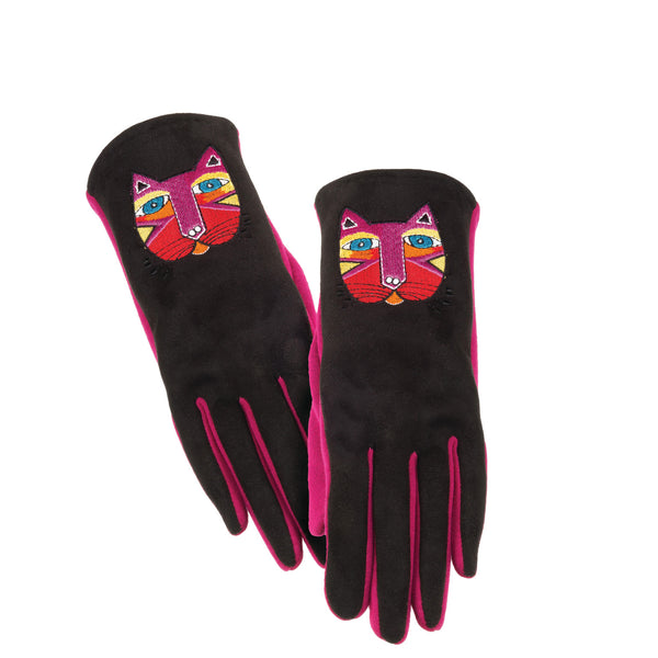 Festive Cat Embroidered Glove Gloves Howards - Laurel Burch Studios