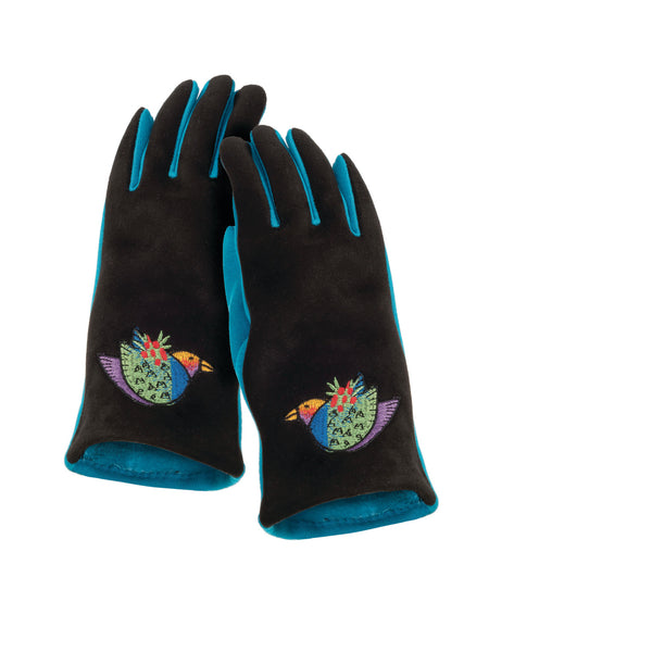 Holiday Bird Embroidered Glove Gloves Howards - Laurel Burch Studios