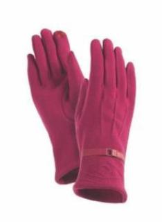 Fuchsia Diamond Pop Stitch Gloves Gloves Howards - Laurel Burch Studios