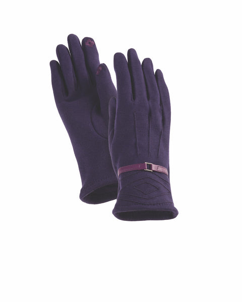 Dark Purple Diamond Pop Stitch Gloves Gloves Howards - Laurel Burch Studios