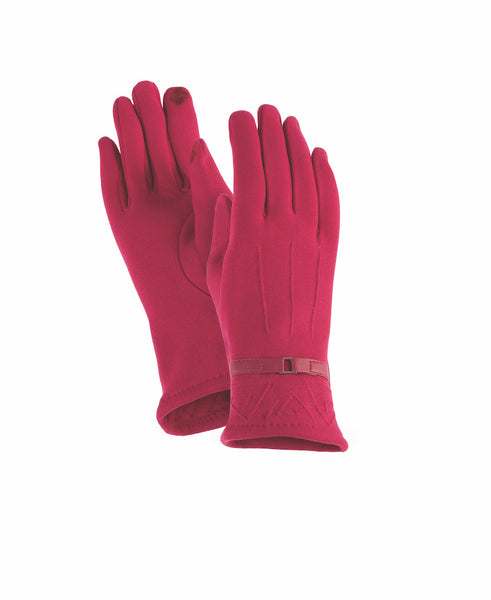 Fuchsia Pop Stitch Gloves Gloves Howards - Laurel Burch Studios
