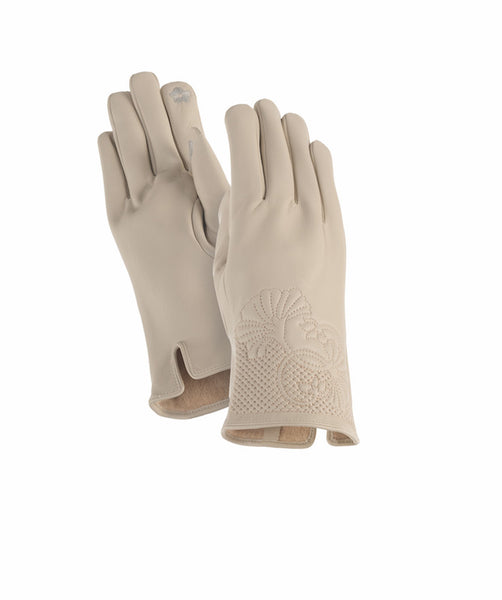 Creme Floral Cuff Gloves Gloves Howards - Laurel Burch Studios