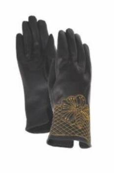 Gold Blossom Cuff Gloves Gloves Howards - Laurel Burch Studios