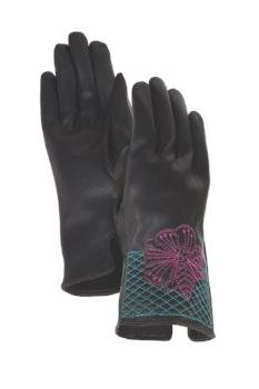 Magenta Blossom Cuff Gloves Gloves Howards - Laurel Burch Studios