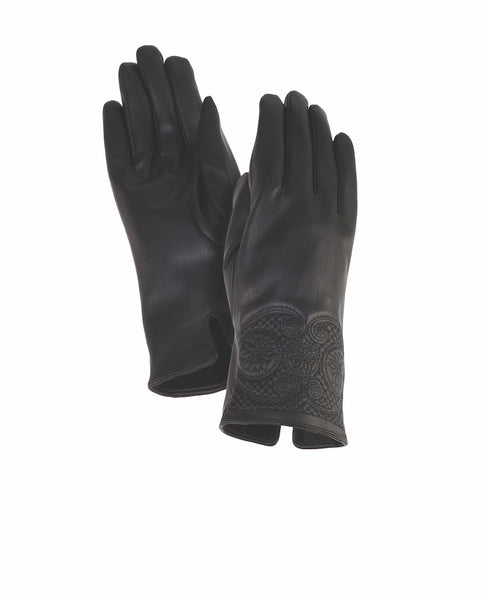 Swirl Black Cuff Gloves