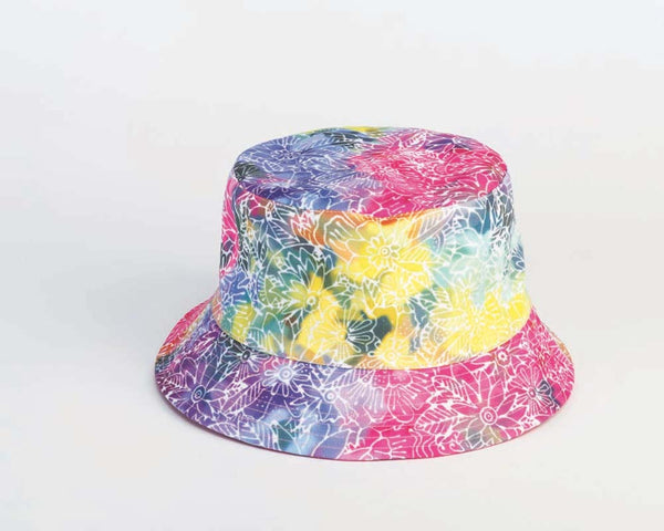 Rainbow Batik Reversible Bucket Hats