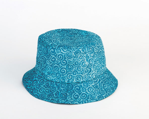 Teal Swirl Reversible Bucket Hat