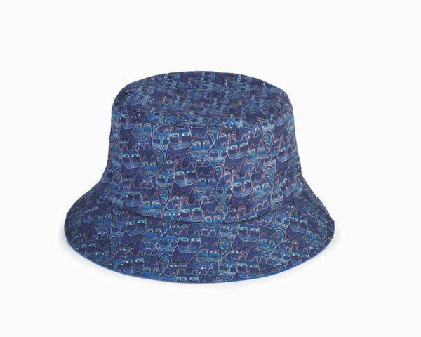 Indigo Cats Reversible Bucket Hat