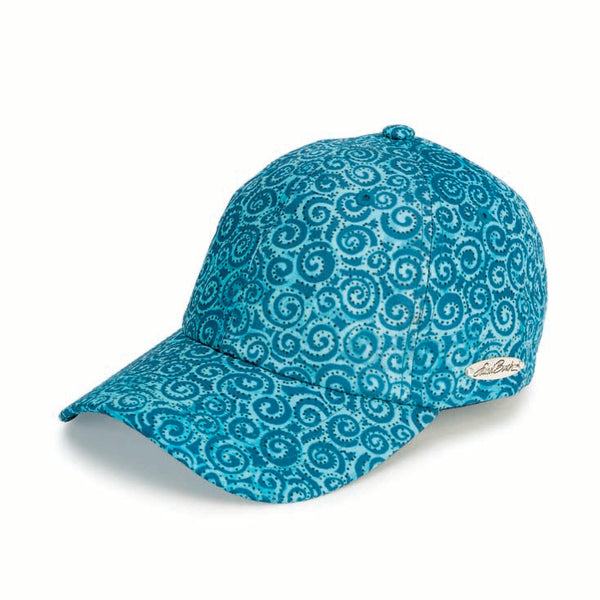 Teal Swirl Patterned Cap