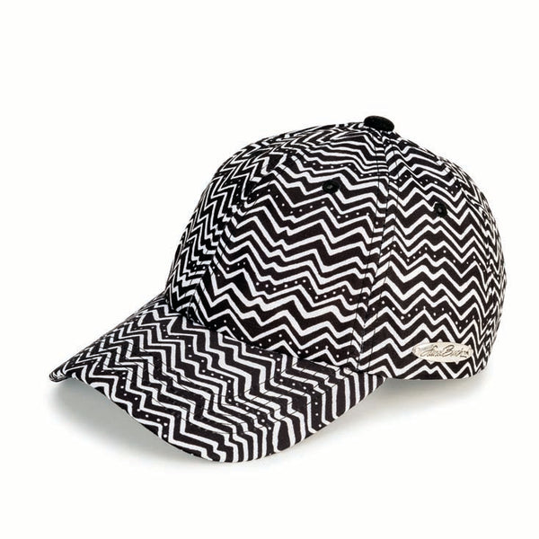 Black & White Zig Zag Patterned Cap