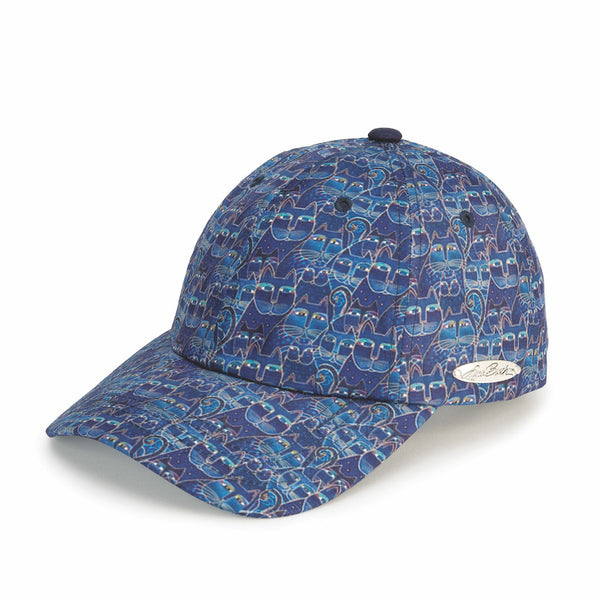 Indigo Cats Patterned Cap