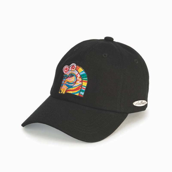 Rainbow Zebra Embroidered Cap