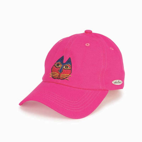 Embroidered Cat Cap - Pink