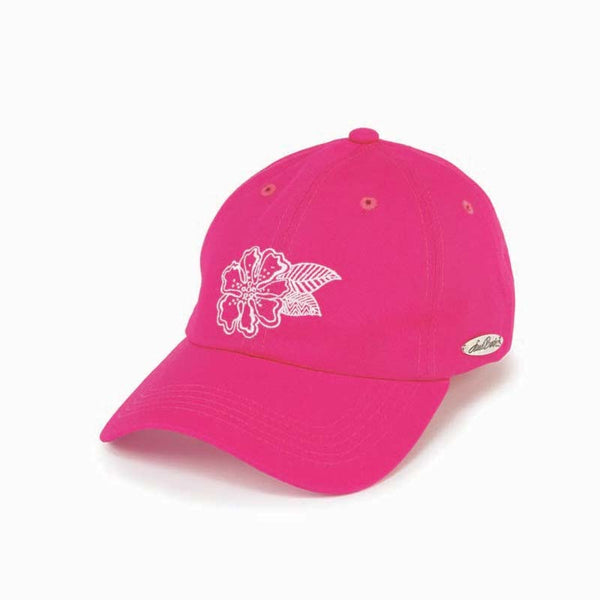 Flower Pink Embroidered Cap
