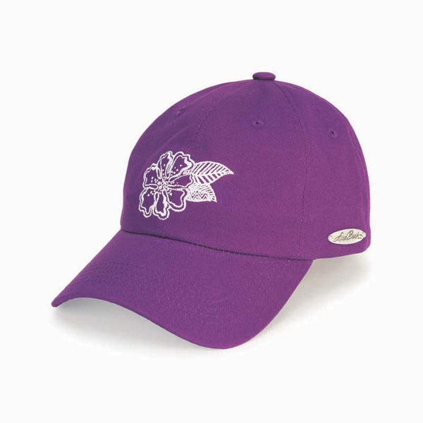 Flower Purple Embroidered Cap