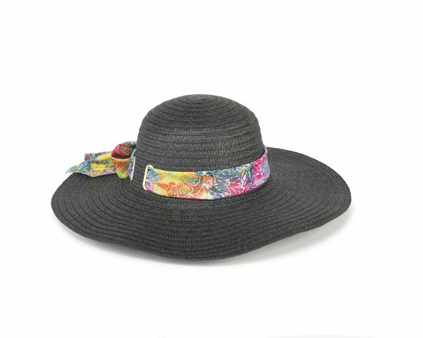 Rainbow Batik White Sun Hat