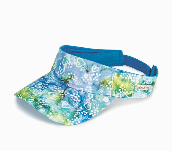 Blue/Green Batik Visor