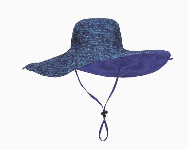 Indigo Cats Reversible Sun Hat