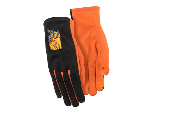 Feline Friends Suede Gloves