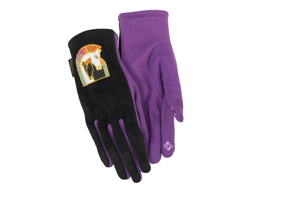 Mythical Horses Suede Gloves