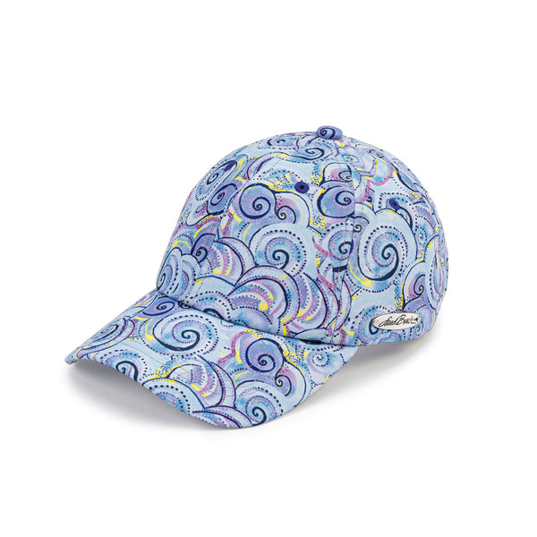 Swirls Patterned Cap - Lavender