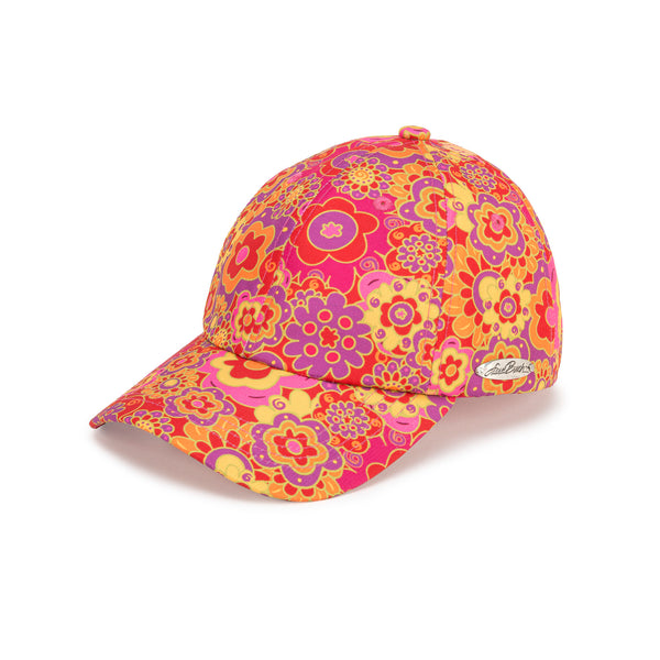 Floral Patterned Cap - Red