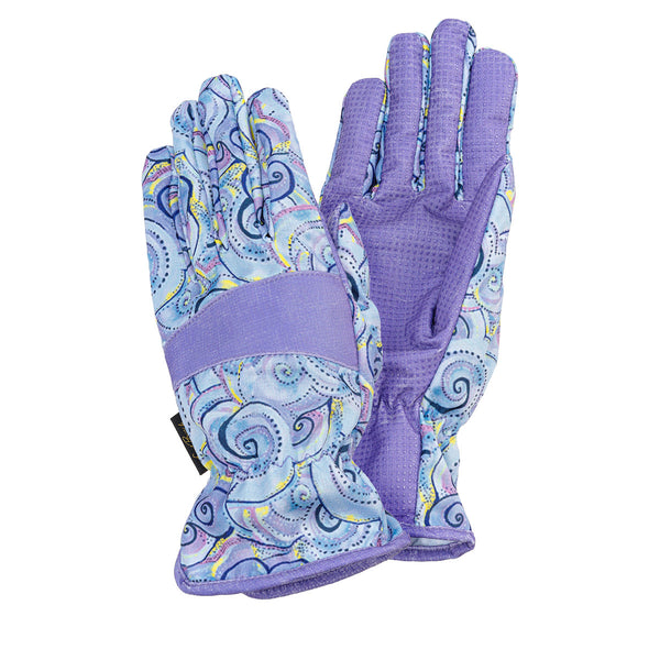 Swirls Garden Gloves - Lavender