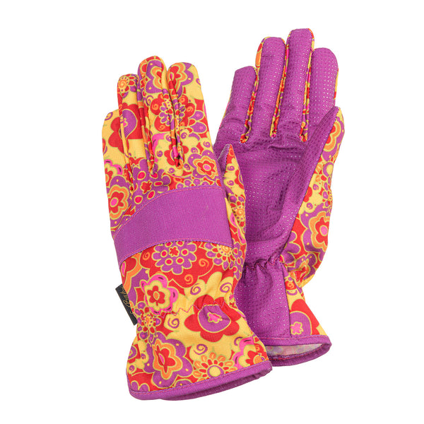 Floral Garden Gloves - Red