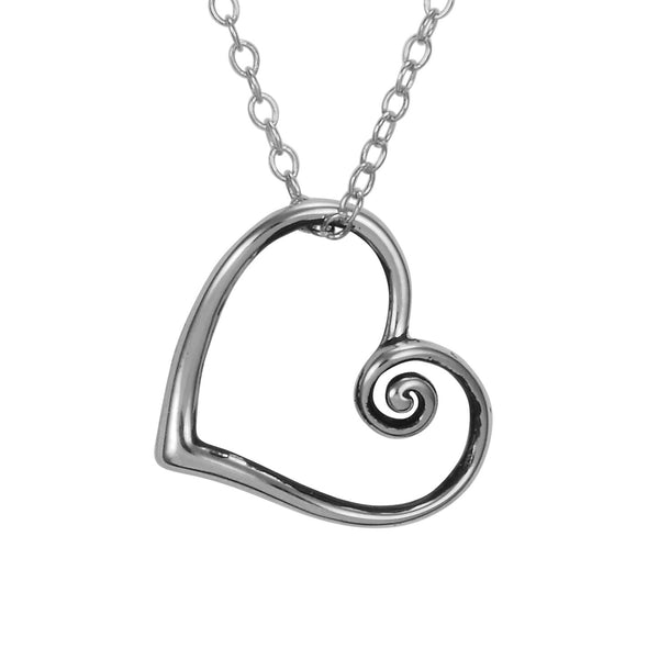 Open Your Heart Necklace Silver Jewelry Laurel Burch Jewelry - Laurel Burch Studios