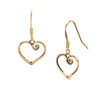 Open Your Heart Earrings Gold Jewelry Laurel Burch Jewelry - Laurel Burch Studios