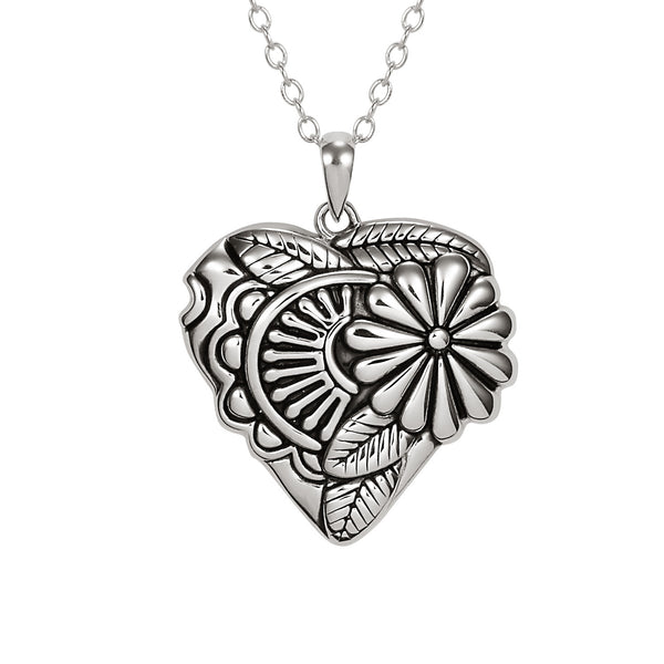 Flowering Heart Necklace Jewelry Laurel Burch Jewelry - Laurel Burch Studios