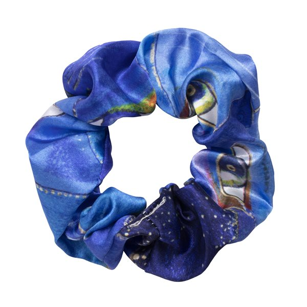 Indigo Cats Scrunchie