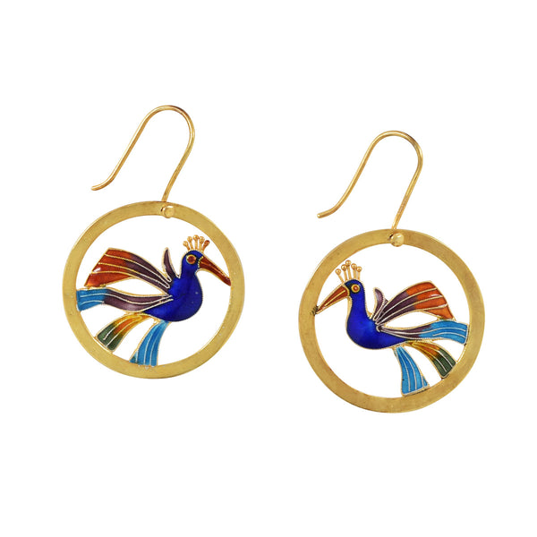 Bird in Circle Vintage Earrings Vintage Earrings Vintage Earrings - Laurel Burch Studios