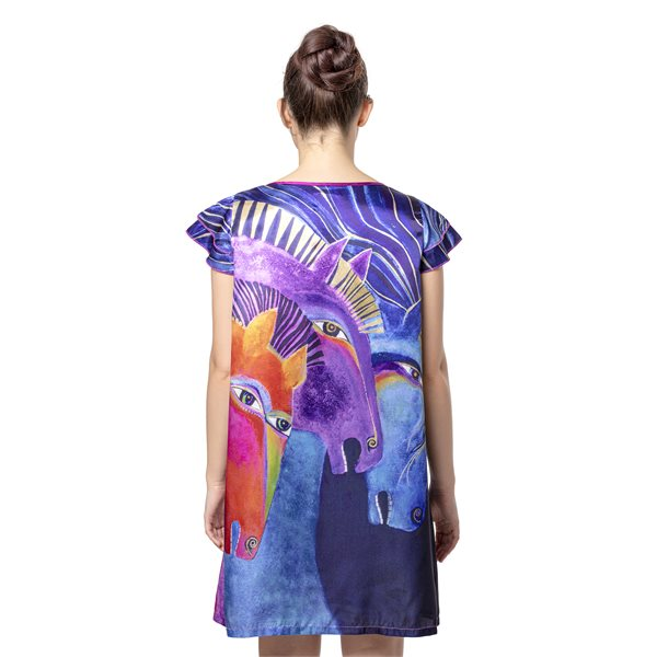 Wild Horses of Fire Flutter Sleeve Nightgown
