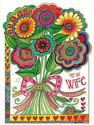 Anniversary Card - Wife: You bring happiness to the life we've built together
