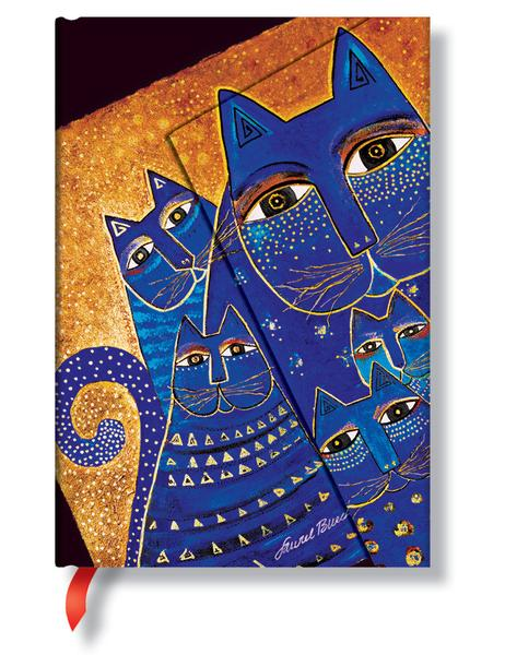 Mediterranean Cats Lined Mini Journal Books & Stationery Hartley & Marks - Laurel Burch Studios