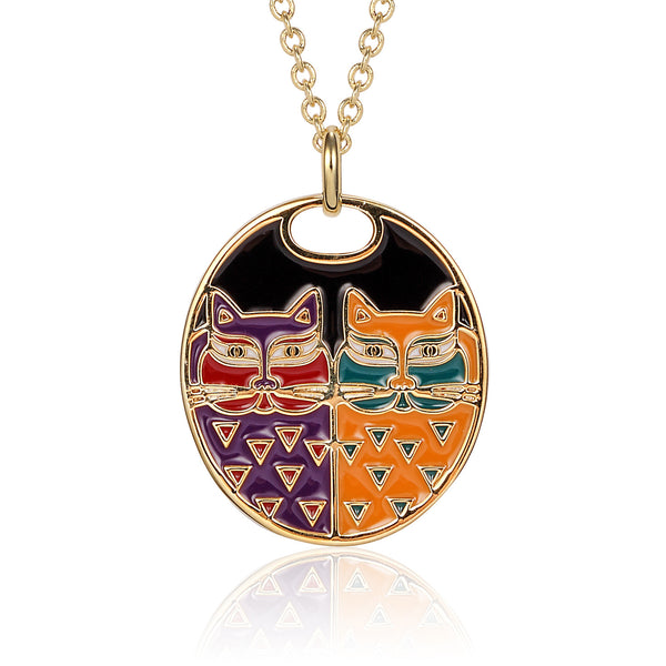 Portrait Cats Necklace Jewelry Laurel Burch Jewelry - Laurel Burch Studios