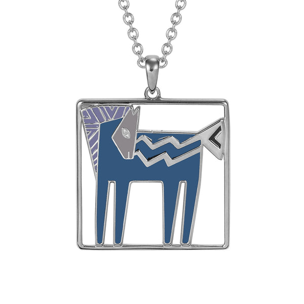 Temple Horse Necklace - Teal/Purple Jewelry Laurel Burch Jewelry - Laurel Burch Studios